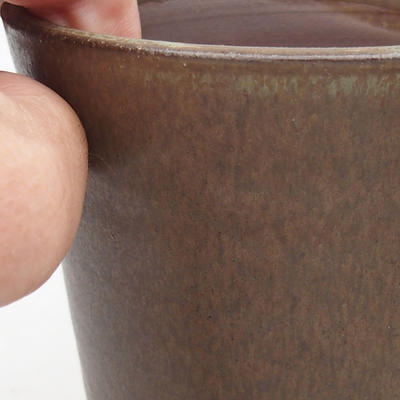 Keramik Bonsai Schüssel 10 x 10 x 13 cm, Farbe braun - 2