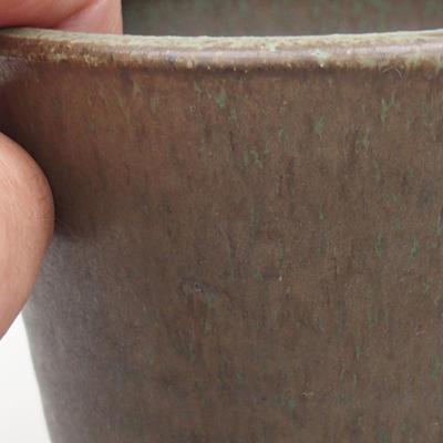 Keramische Bonsai-Schale 10,5 x 10,5 x 10 cm, Farbe grün - 2