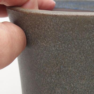 Keramische Bonsai-Schale 10 x 10 x 11 cm, Farbe grau - 2