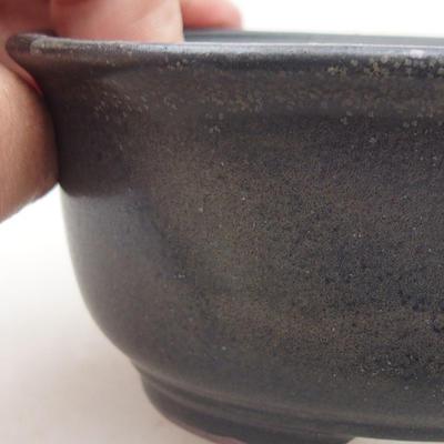 Keramische Bonsai-Schale 12 x 10 x 5 cm, graue Farbe - 2