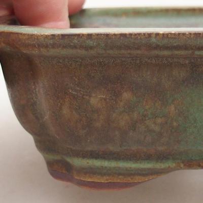 Keramische Bonsai-Schale 15 x 11,5 x 4,5 cm, Farbe grün - 2