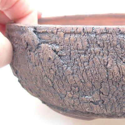 Keramische Bonsai-Schale 15 x 15 x 6 cm, Farbe rissig - 2