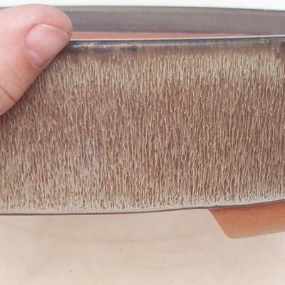 Bonsai-Schale 34,5 x 25,5 x 7 cm, braungraue Farbe - 2