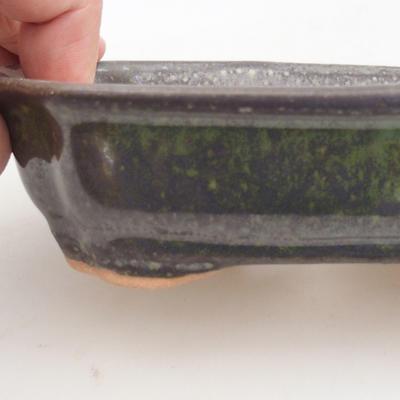 Keramische Bonsai-Schale 15,5 x 12 x 4,5 cm, Farbe grün - 2