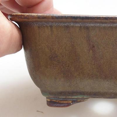 Keramische Bonsai-Schale 13 x 10 x 5,5 cm, Farbe grün - 2
