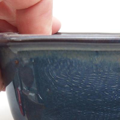 Keramische Bonsai-Schale 13 x 10 x 5,5 cm, braun-blaue Farbe - 2