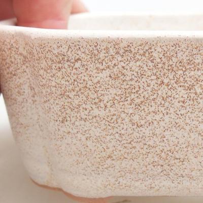 Bonsai-Keramikschale 12 x 9,5 x 4 cm, beige Farbe - 2