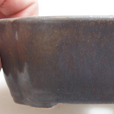 Keramik Bonsai Schüssel 12 x 9,5 x 4 cm, Metallfarbe - 2