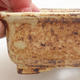 Keramische Bonsai-Schale 12 x 10 x 4,5 cm, Farbe braun-gelb - 2/4