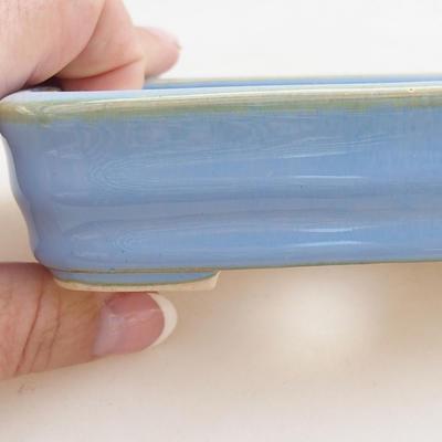 Keramische Bonsai-Schale 11 x 8 x 3 cm, Farbe blau - 2