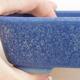 Keramische Bonsai-Schale 12 x 9,5 x 3,5 cm, Farbe blau - 2/4