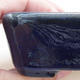Keramische Bonsai-Schale 9 x 7,5 x 3 cm, Farbe blau - 2/4