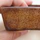 Keramische Bonsai-Schale 9,5 x 7 x 3 cm, braune Farbe - 2/4