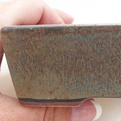 Keramische Bonsai-Schale 11,5 x 8,5 x 4 cm, Farbe blaugrau - 2