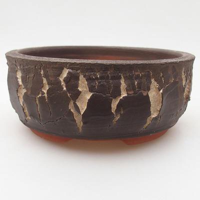 Keramik Bonsai Schüssel 15 x 15 x 6 cm, Farbe rissig - 2