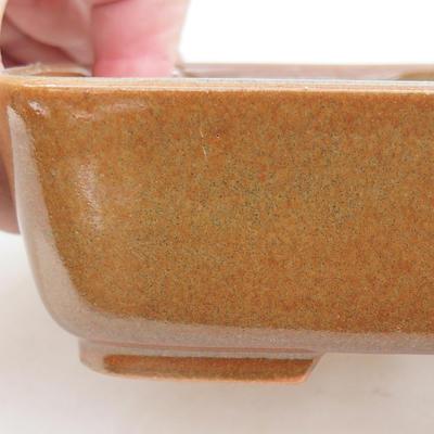 Keramik Bonsai Schüssel 15 x 12 x 4,5 cm, braune Farbe - 2