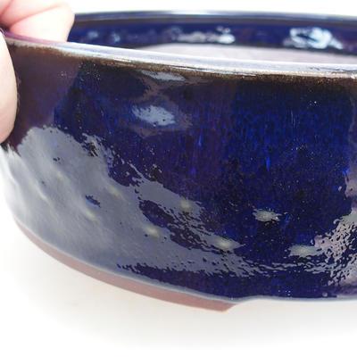 Bonsai-Keramikschale 23 x 23 x 7 cm, Metallfarbe - 2