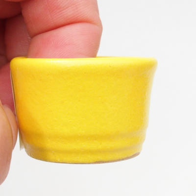Mini Bonsai Schüssel 3 x 3 x 2,5 cm, gelbe Farbe - 2