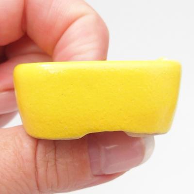 Mini Bonsai Schüssel 4 x 3,5 x 2 cm, gelbe Farbe - 2