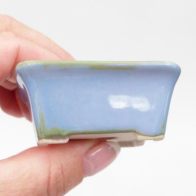 Mini-Bonsaischale 6 x 4,5 x 2,5 cm, Farbe blau - 2