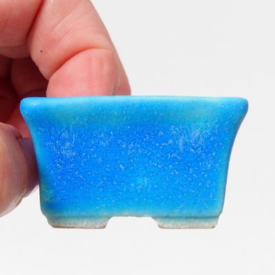 Mini-Bonsaischale 4,5 x 3,5 x 2,5 cm, Farbe blau - 2