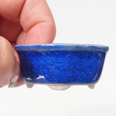Mini-Bonsaischale 4,5 x 4 x 2 cm, Farbe blau - 2