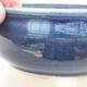 Keramische Bonsai-Schale 10 x 10 x 5 cm, Farbe blau - 2/3