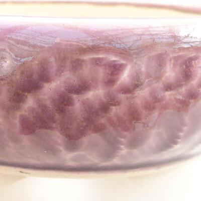 Keramische Bonsai-Schale 11 x 11 x 5 cm, Farbe lila - 2