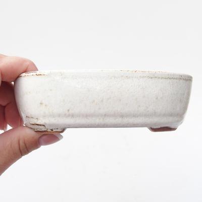 Keramik Bonsai Schüssel 12,5 x 8 x 3,5 cm, weiße Farbe - 2