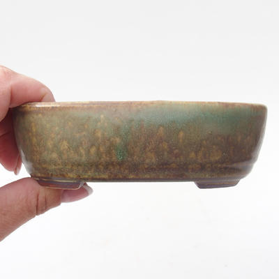 Keramik Bonsaischale 13 x 8,5 x 3,5 cm, Farbe grün - 2