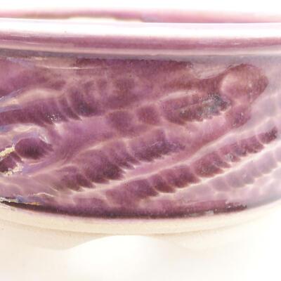 Keramische Bonsai-Schale 11 x 11 x 4,5 cm, Farbe lila - 2