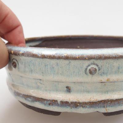 Keramik Bonsai Schüssel - 16 x 16 x 5 cm, Farbe blau - 2