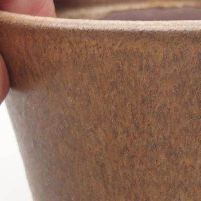 Keramische Bonsai-Schale 10,5 x 10,5 x 9,5 cm, braune Farbe - 2
