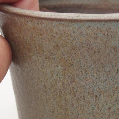 Keramik Bonsai Schüssel 10 x 10 x 10 cm, Farbe blau - 2