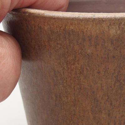Keramische Bonsai-Schale 10,5 x 10,5 x 9,5 cm, beige Farbe - 2