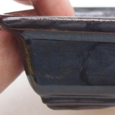 Keramische Bonsai-Schale 13,5 x 10 x 3,5 cm, braune Farbe - 2