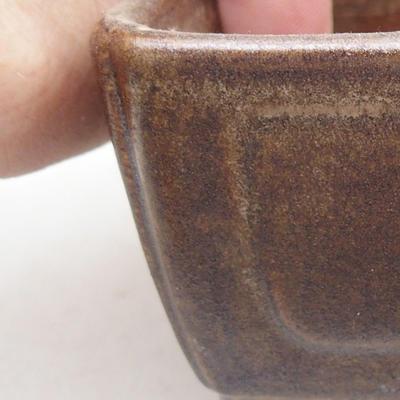 Keramische Bonsai-Schale 13 x 9 x 4,5 cm, braune Farbe - 2