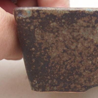 Keramische Bonsai-Schale 9 x 7 x 4 cm, graue Farbe - 2