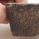 Keramische Bonsai-Schale 9 x 7 x 4 cm, graue Farbe - 2/4