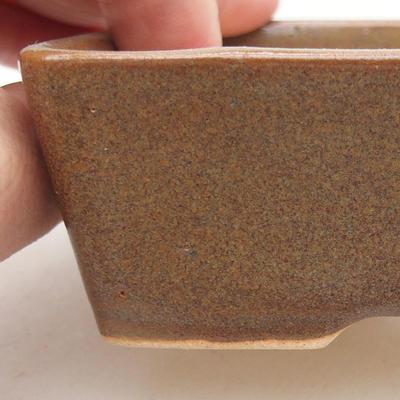 Keramische Bonsai-Schale 12 x 9 x 3,5 cm, Farbe braun - 2