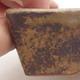 Keramische Bonsai-Schale 12 x 9 x 3,5 cm, Farbe braun - 2/4