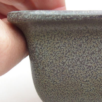 Keramische Bonsai-Schale 9 x 9 x 5,5 cm, graue Farbe - 2