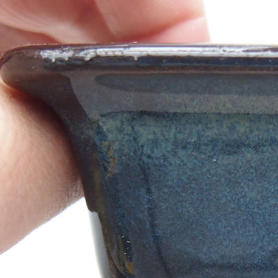 Keramische Bonsai-Schale 9 x 9 x 5,5 cm, Farbe blau - 2