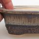 Keramik-Bonsaischale 12 x 9 x 5 cm, grüngraue Farbe - 2/3