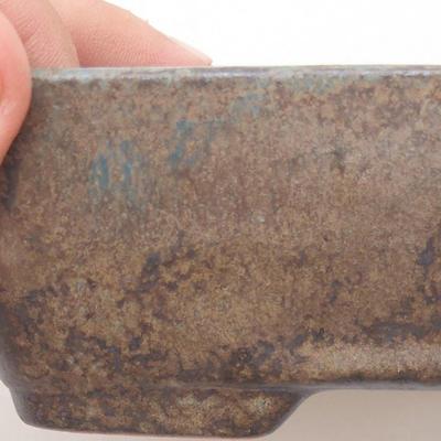 Keramische Bonsai-Schale 17,5 x 13 x 5 cm, Farbe braun-grün - 2. Qualität - 2