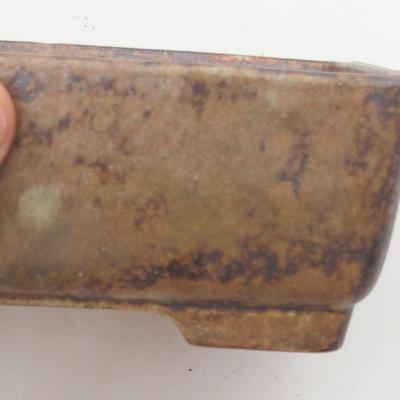 Keramik Bonsai Schüssel 15 x 11 x 5,5 cm, Farbe braun-grün - 2. Qualität - 2