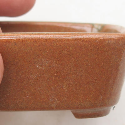 Keramik Bonsai Schüssel 8 x 7 x 3 cm, Farbe braun - 2. Qualität - 2