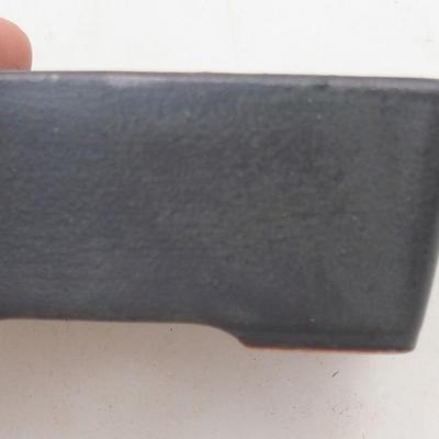 Keramische Bonsai-Schale 9,5 x 7 x 3,5 cm, graue Farbe - 2. Qualität - 2
