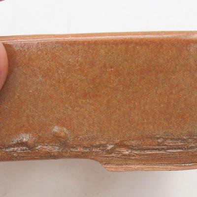 Keramik Bonsai Schüssel 12,5 x 9 x 4 cm, braune Farbe - 2. Qualität - 2