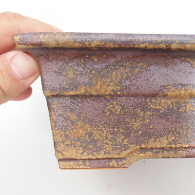 Keramik Bonsaischale 22 x 16 x 7,5 cm, braun-grüne Farbe - 2